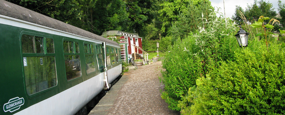 Hostelling with Children Railway Carridge Hostel at Rogart