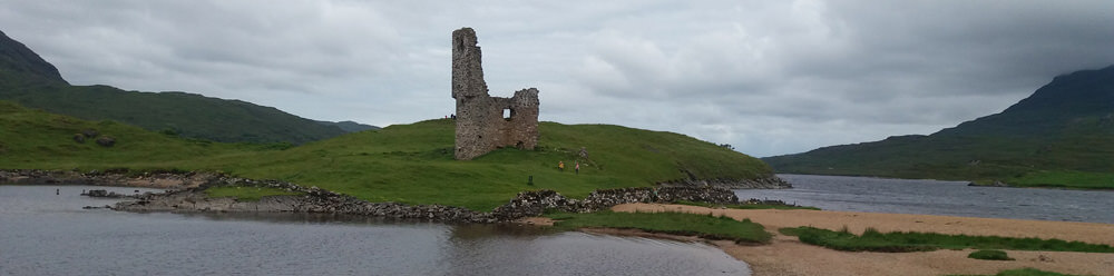 NC500 North Coast 500. Ardveck Castle.