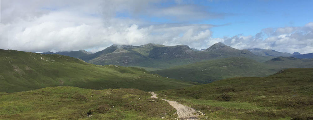 West Highland Way Mamores from Devils Staircase