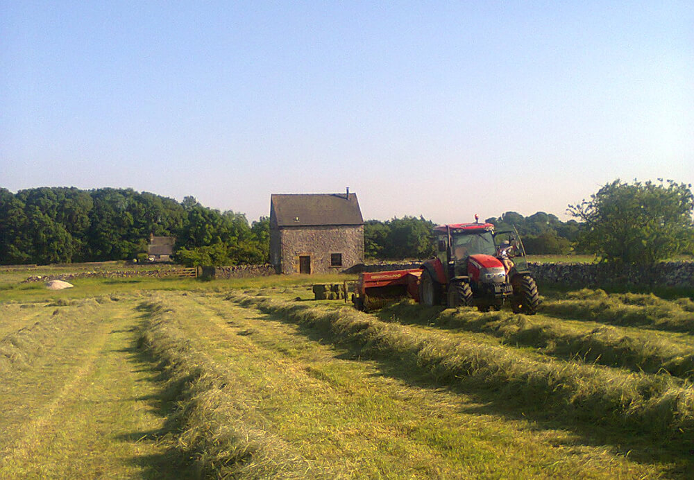 Alstonefield Camping Barn and tractor