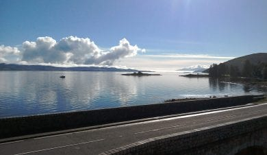 View from argyll Backpackers