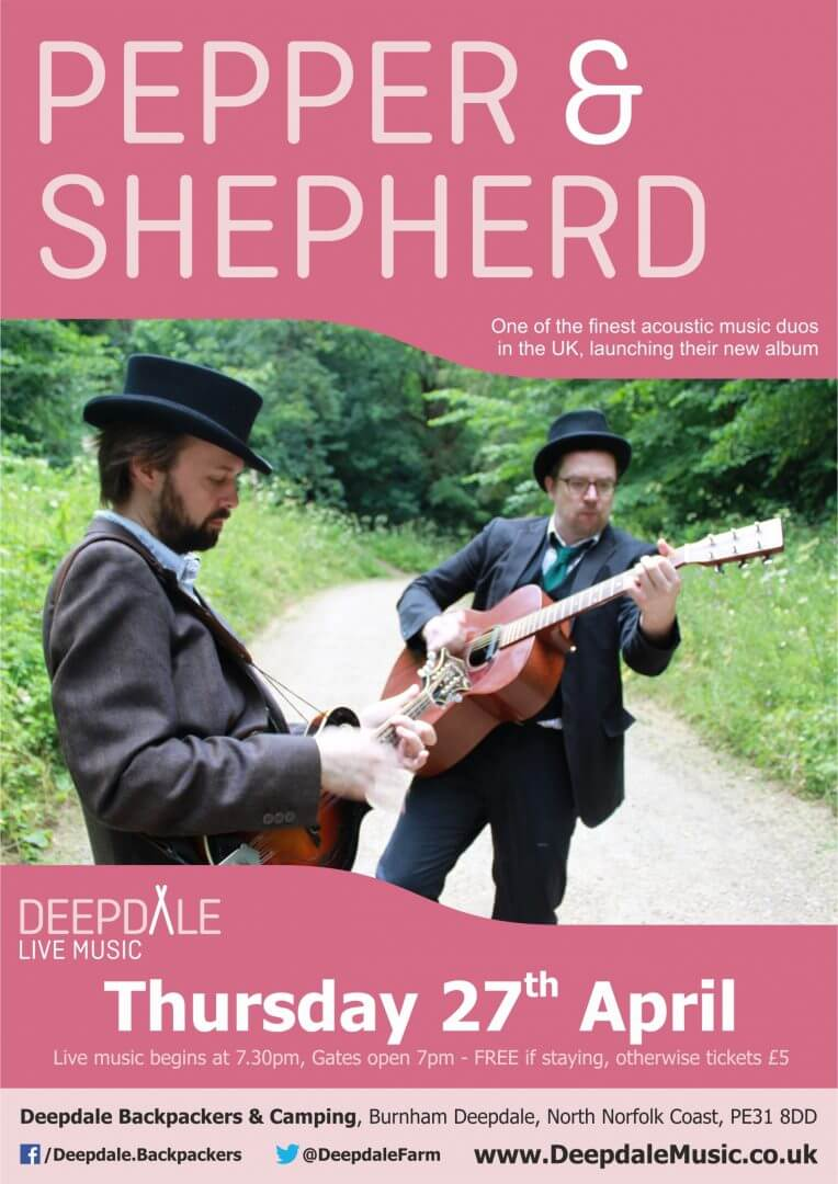 Pepper and Shepherd Live Music Gig