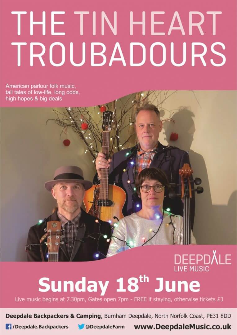 Tin Heart Troubadours Live Music Gig