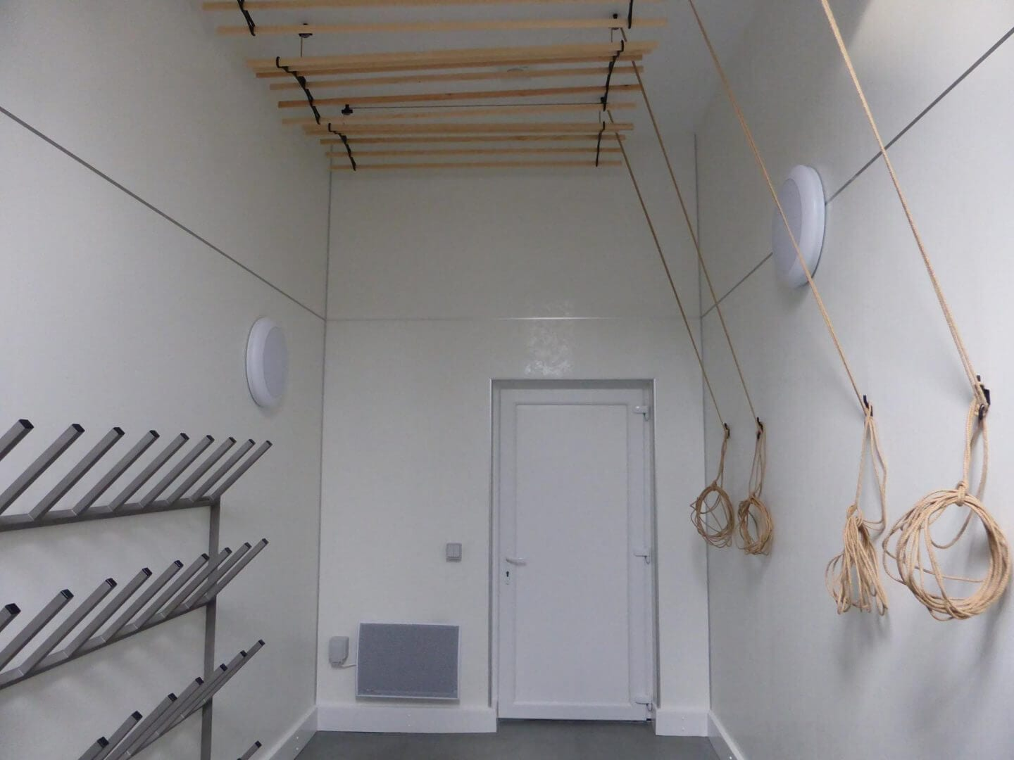 new drying room at Saddle Mountain Hoste