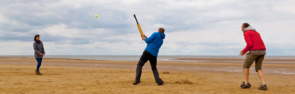 tBeach Cricket on the North Norfolk Coast