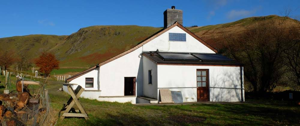 Solar Energy at Dolgoch Hostel