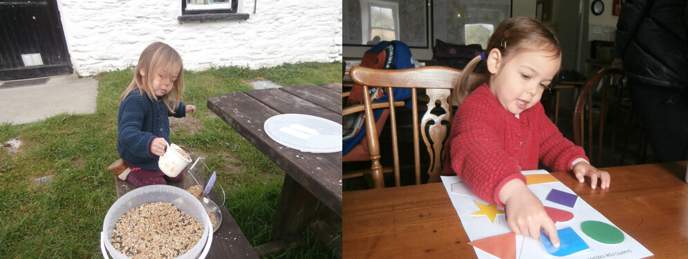 Childrens activities at Dolgoch Hostel