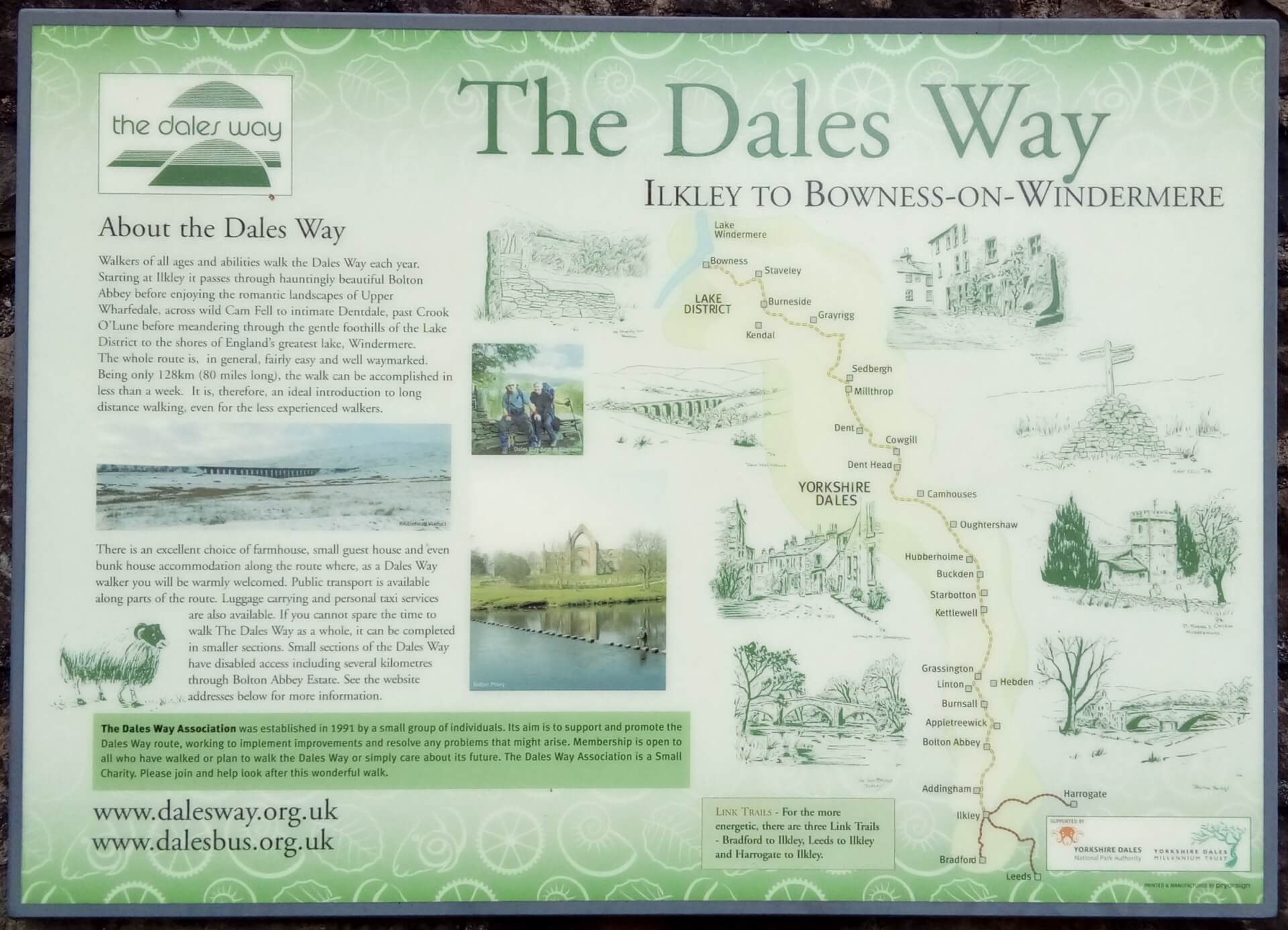 The Dales Way Sign at Sedbergh