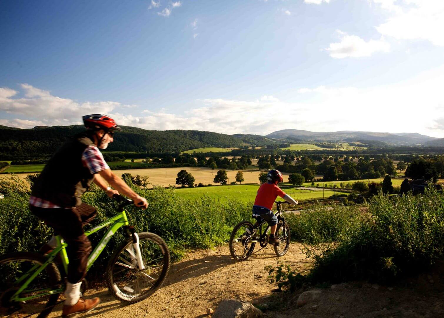 cycling at Comrie Croft Eco Hostel