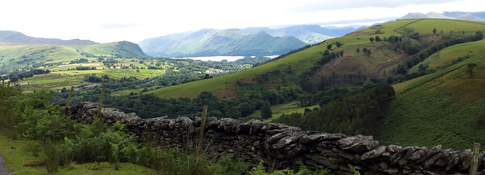 skiddaw house view over keswick