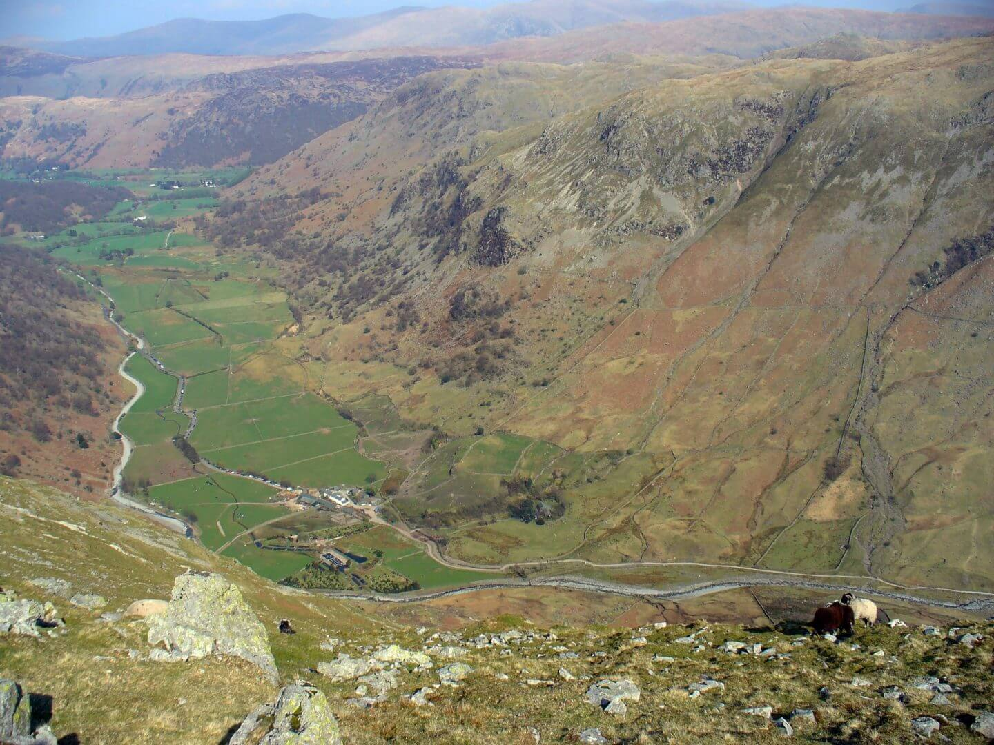 High House and Borrowdale from Base Brown
