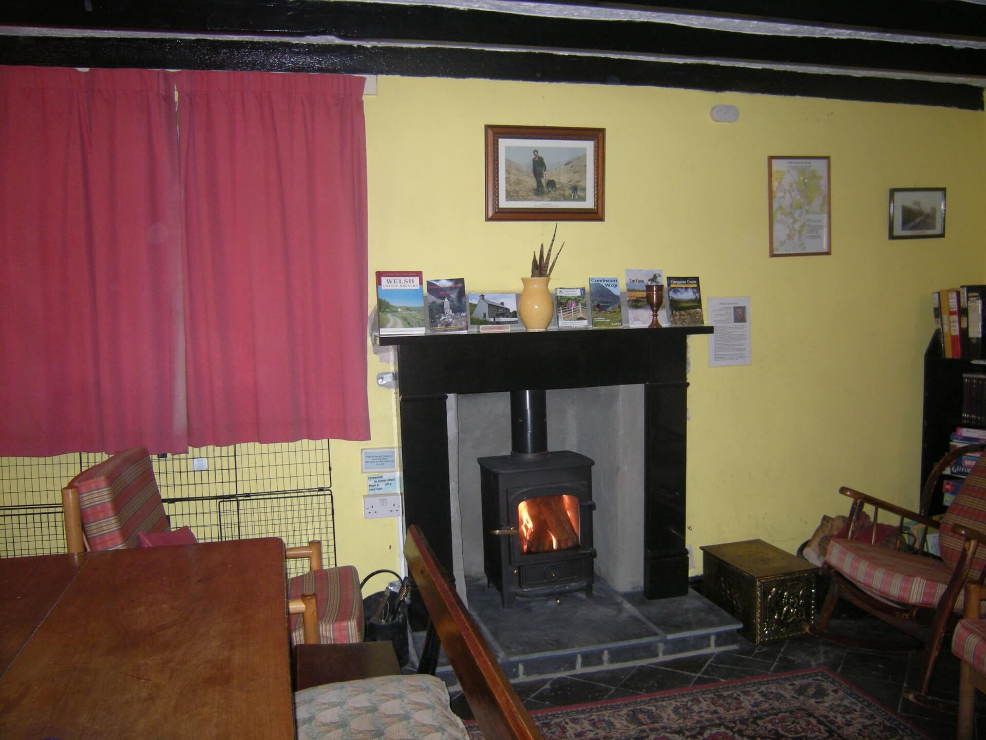 Tyn Cornel Hostels new wood-burning stove