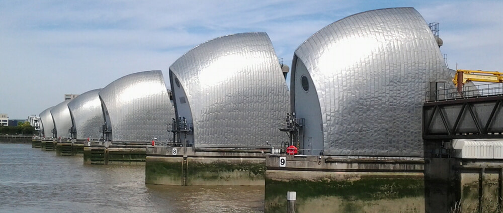 Thames Barrier on the Thames Path National Trail