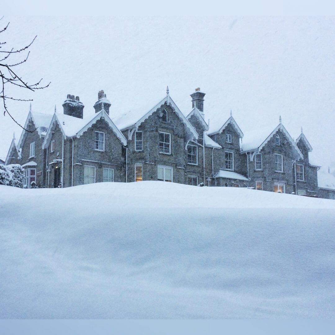 Snow in Herefordshire at Dunfield House