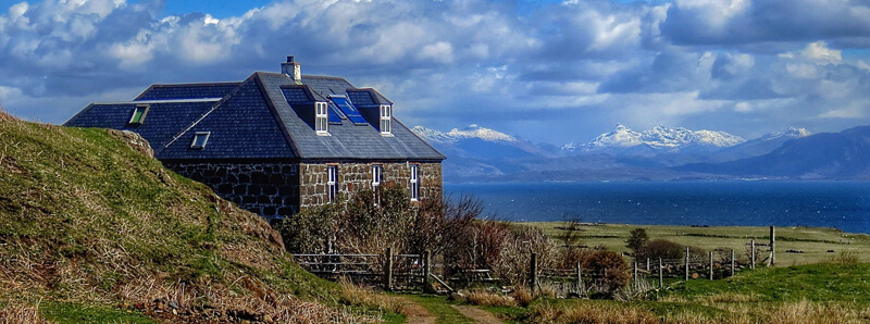 Glebe Barn, a luxury hostel on Eigg