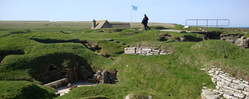 Skara Brae ancient village on Orkne