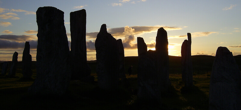 Callunish Stones by Otter Bunkhouse on the west coast of Lewis.