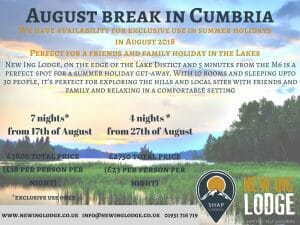 Summer getaways in Cumbria