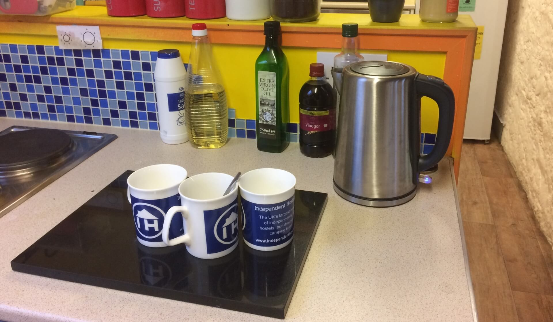 Self catering facilities at a Welsh hostel
