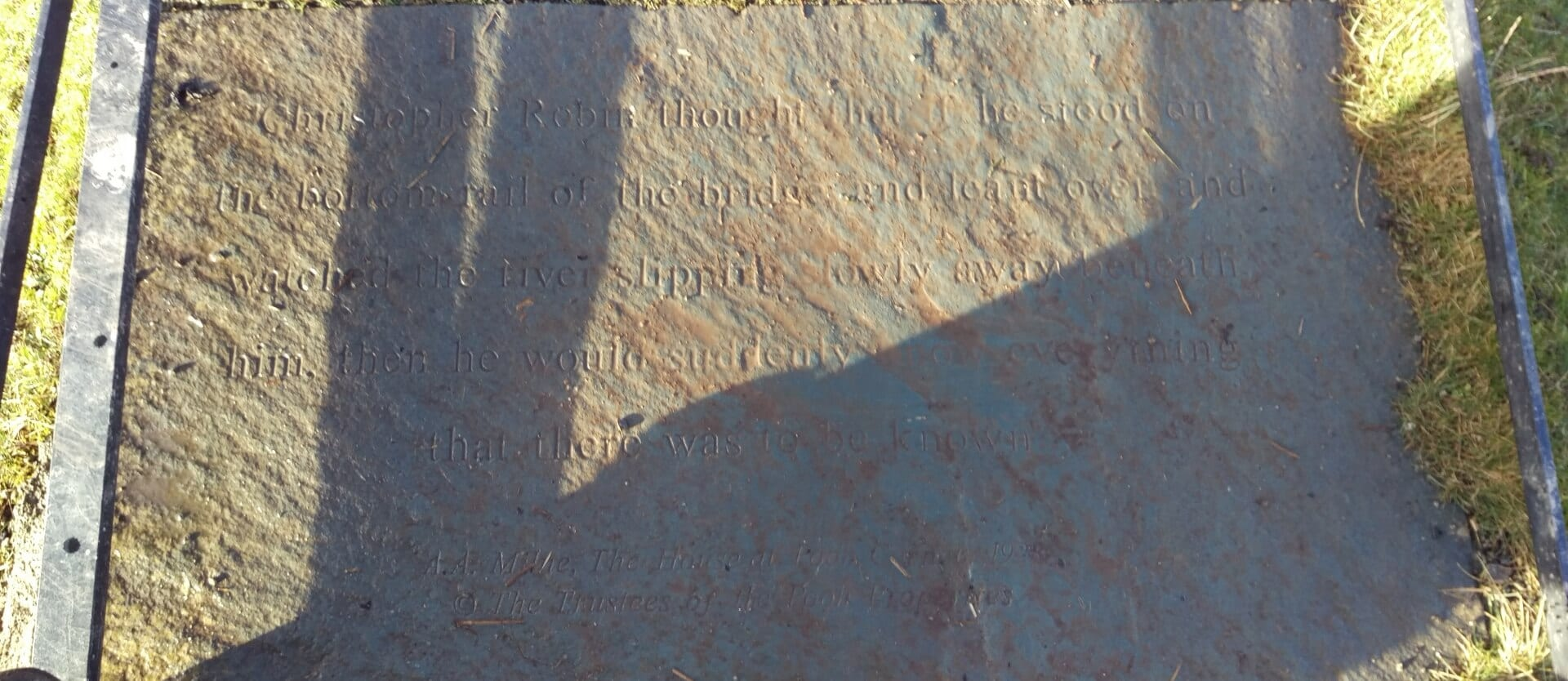 Inscription on bridge in Keswick Park