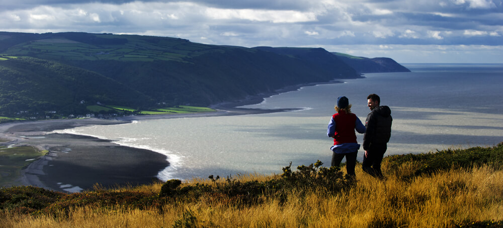 Walkers in Exmoor National Park