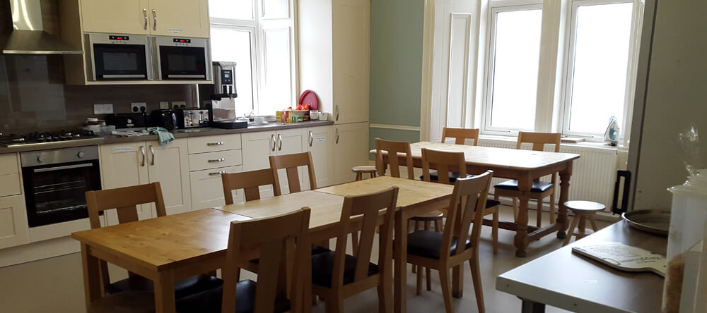 self catering kitchen at corran house