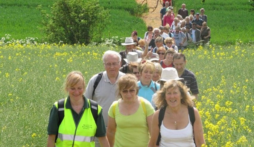 Lincolnshire Wolds walking festival spring fields
