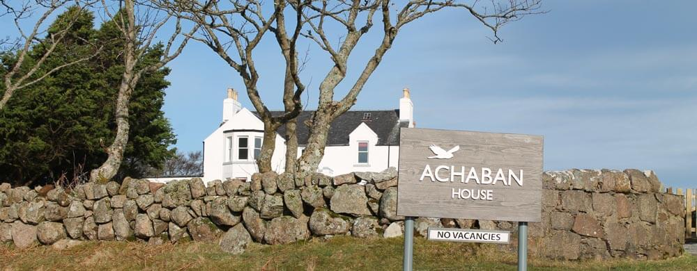 Achaban House on the pilgrims route to iona