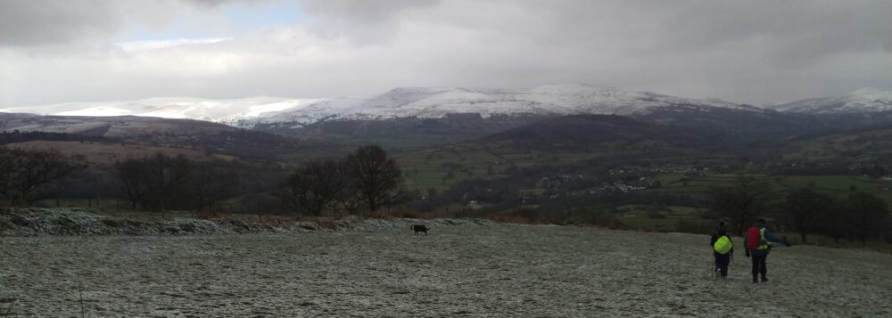 The beast from the east near Talybont on Usk