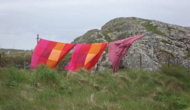 Eco Hostel wind dryed washing at Millhouse hostel