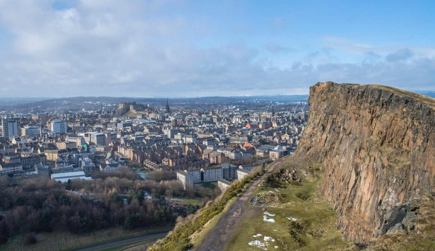 Edinburgh skyline seen from Salisbury Crags isitScotland/Kenny Lam