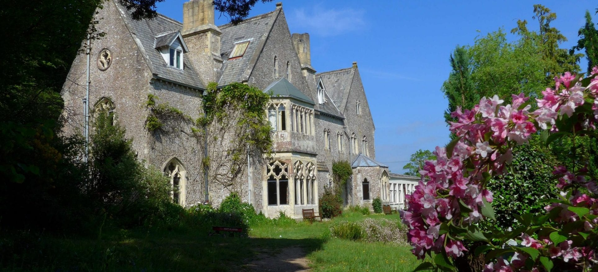 Monkton Wyld Court - gothic mansion - sustainable living