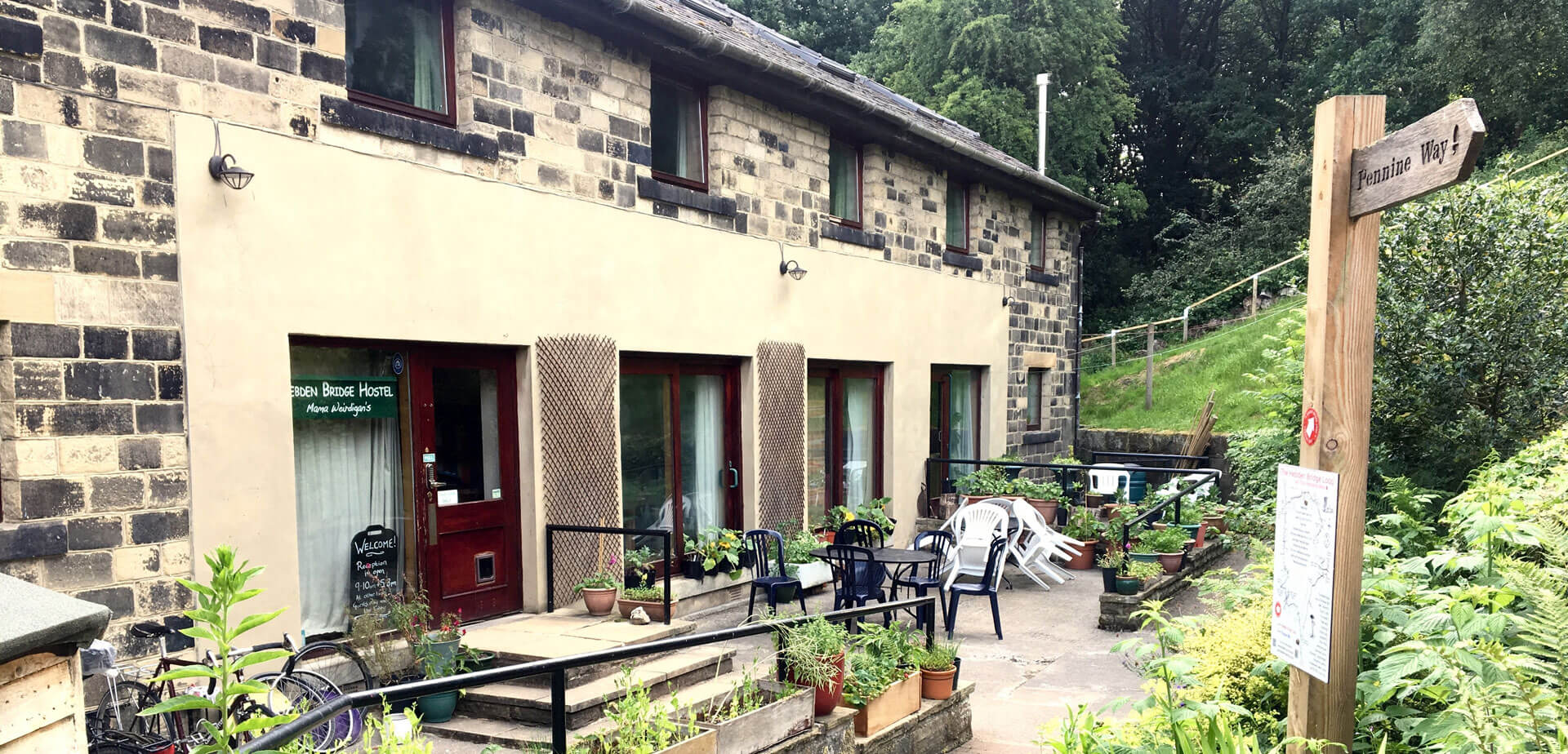 hebden bridge hostel accommodation on the pennine way