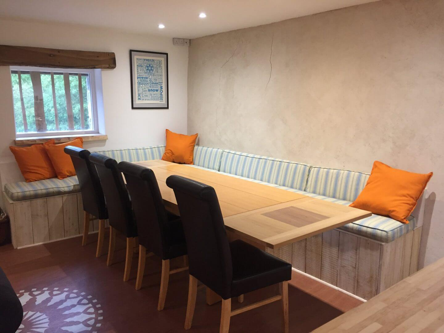 Witherslack Cycle Barn dining table