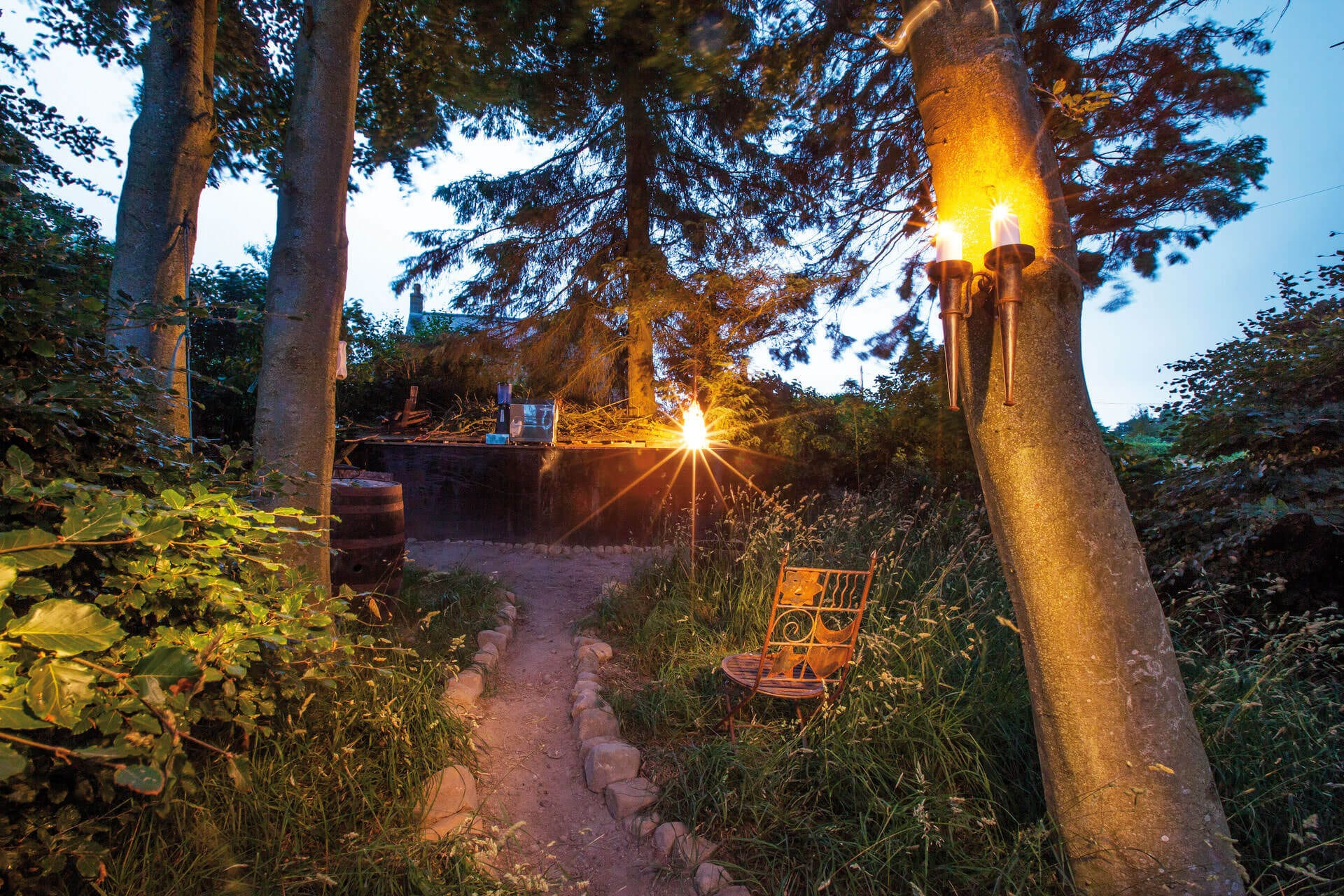 Step in to the magical atmosphere at our woodland bar area!