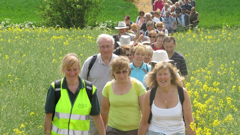 Organised walk by one of the Lincolnshire Walking Festivals
