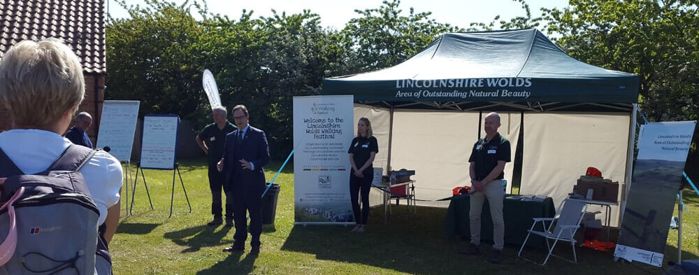 Opening the Lincolnshire Wolds Walking Festival