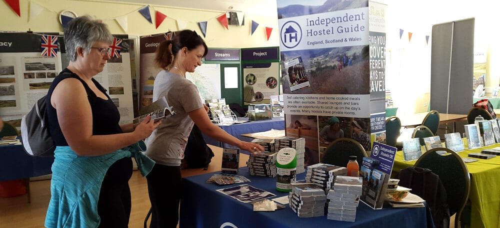 Independent Hostels Stand at the Lincolnshire Wolds Walking Festival