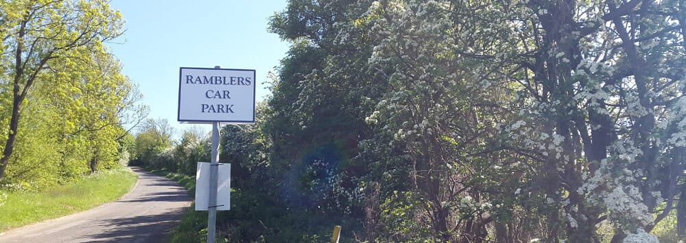 Ramblers Car Park in the Lincolnshire Wolds