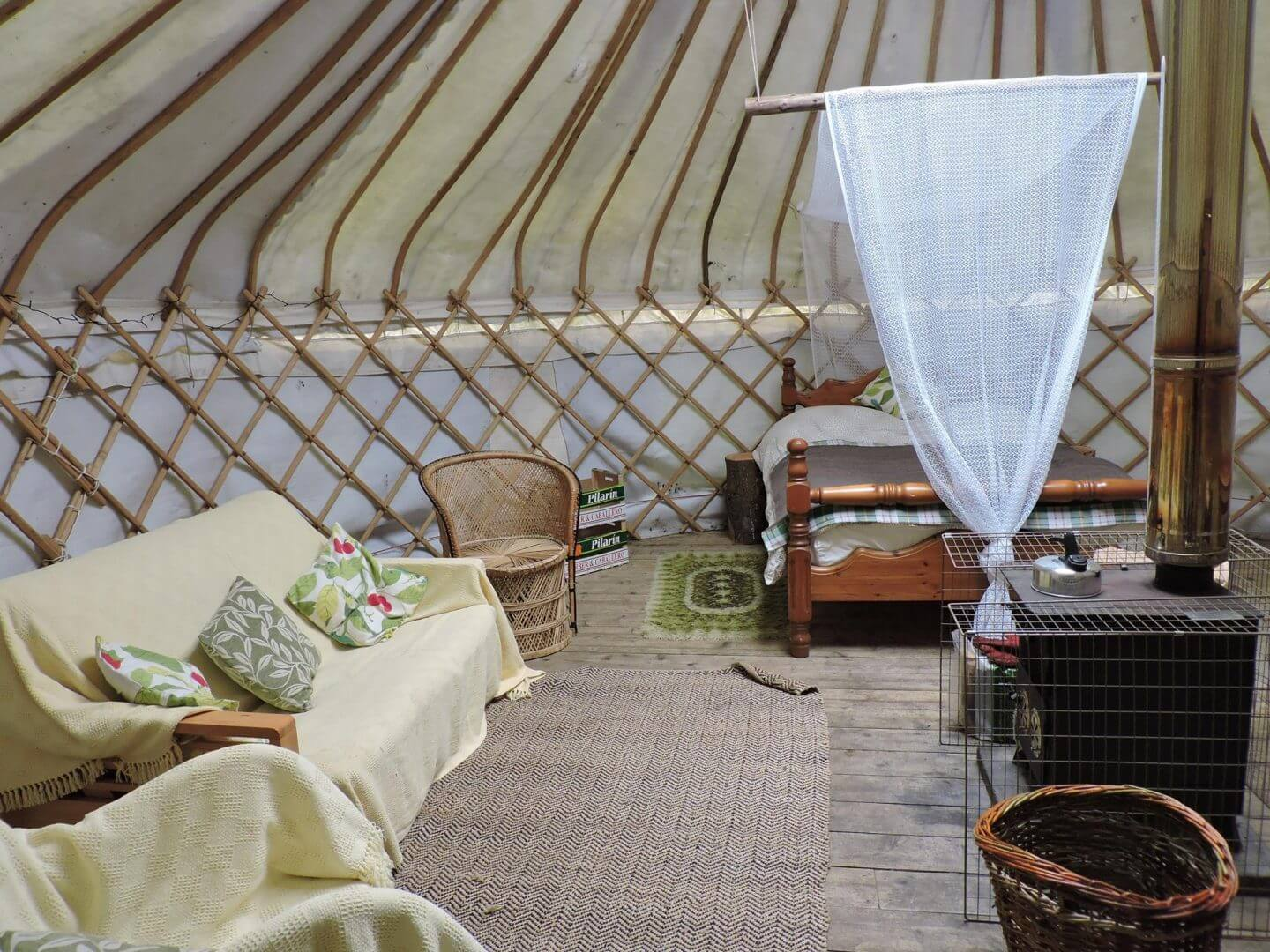 Wetherdown Lodge and Campsite - sustainable living - yurts - summer availability
