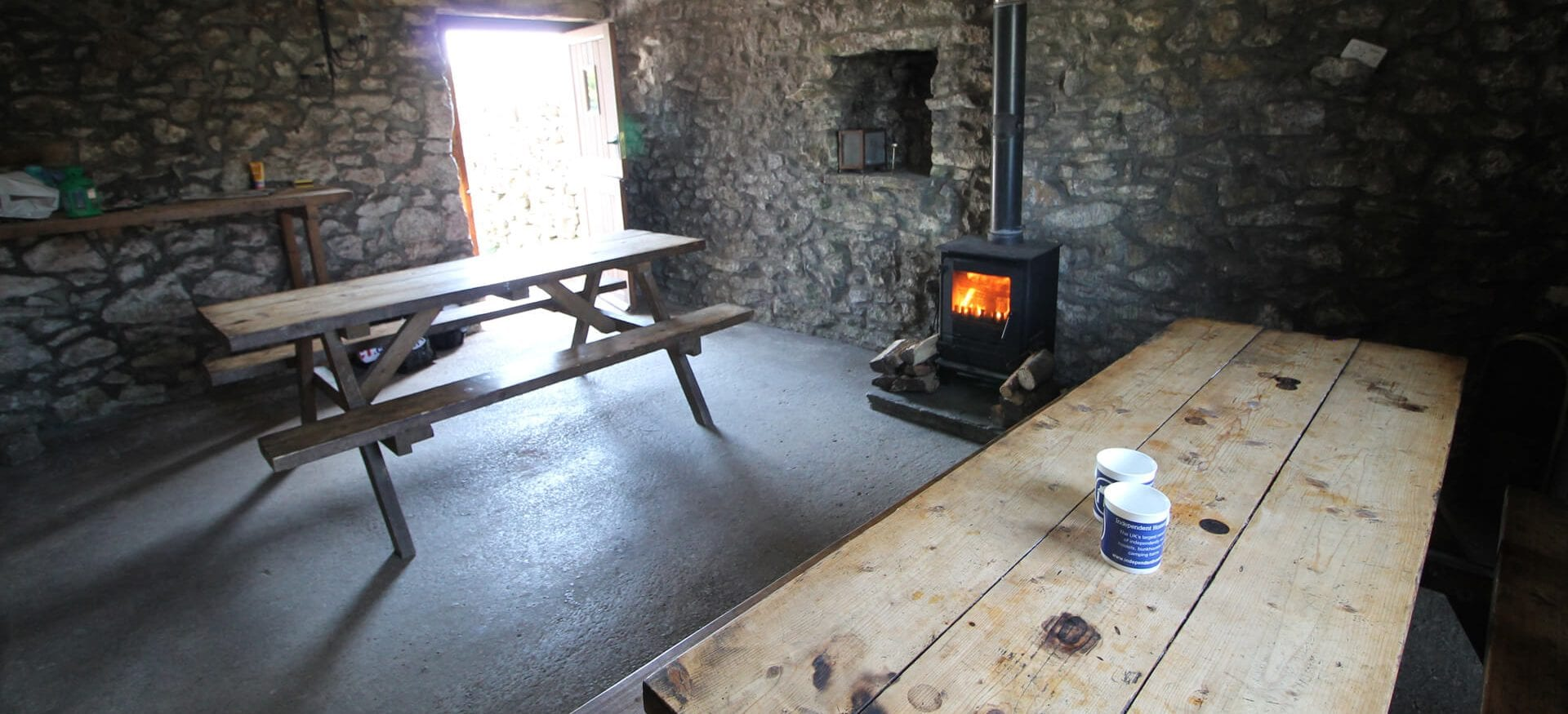 Alstonefield Camping Barn with log burner