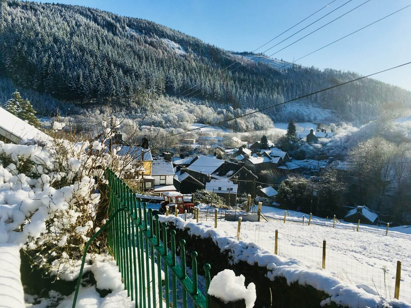 Corris Hostel at Christmas time in Snowdonia