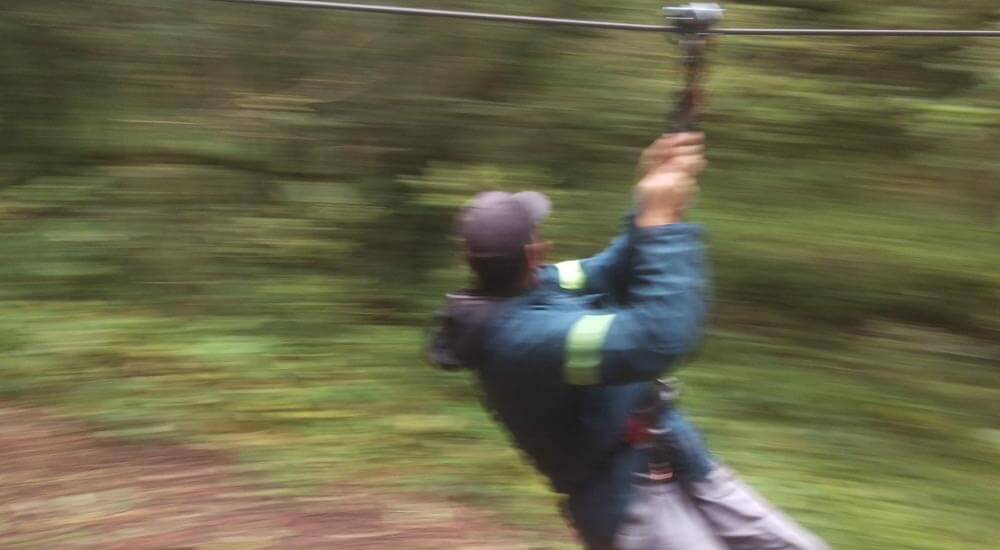 Zip Wire at Go Ape in Grizedale