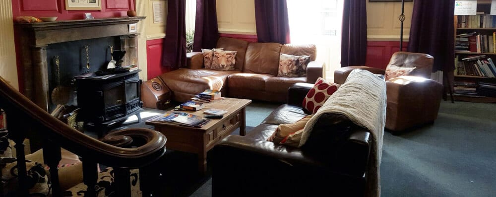 The Lounge at Kendal Hostel dog friendly accommodation.