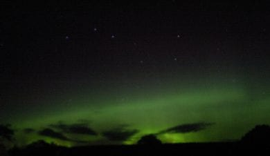 Aurora over Slacke House Farm in Northumberland