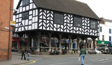 Ledbury Market House near Eastnor Castle