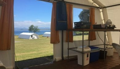 Shieling self-catering tented accommodation on the Isle of Mull