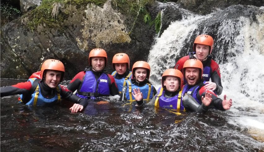 gorge walking at pentrebachbunkhouse