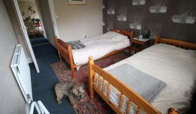 bed room at toad hall cyclists accommodation