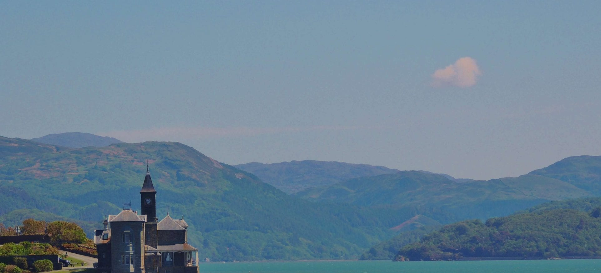 Clockhouse on the Mawddach estuary over looked by bunkorma bunkhouse